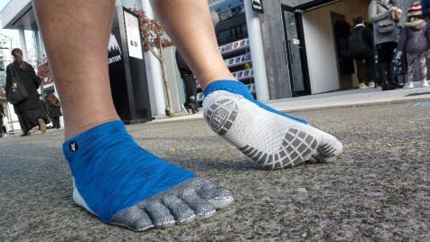 「はだし靴下」の足裏